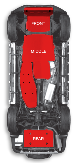 high performance 4x4 underbody protection kit