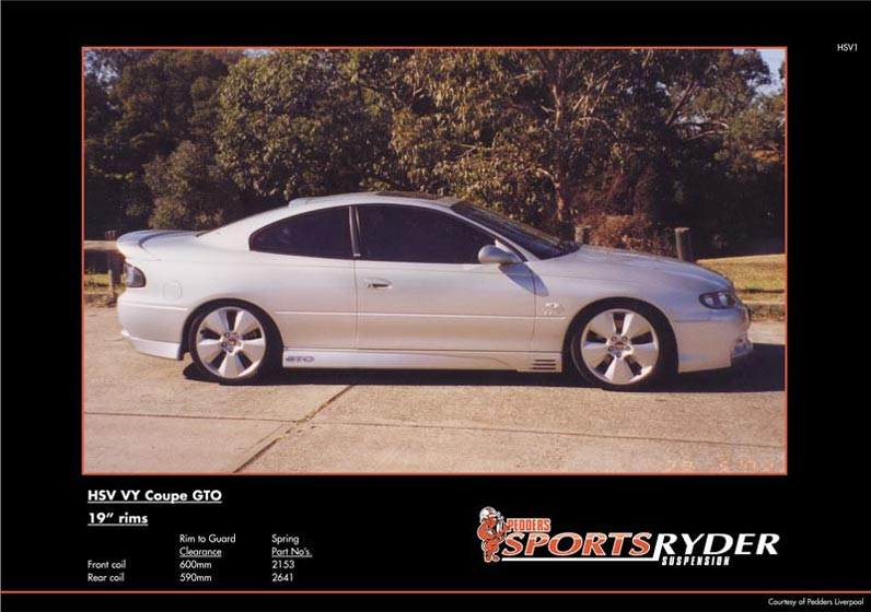 Holden Commodore VY HSV GTO Coupe | Pedders Suspension and