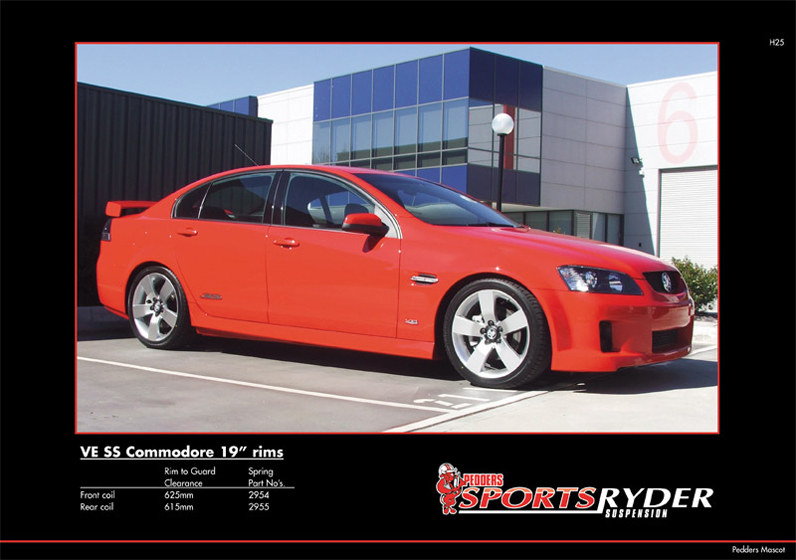 Holden Commodore VE Sedan SS | Pedders Suspension and Brakes