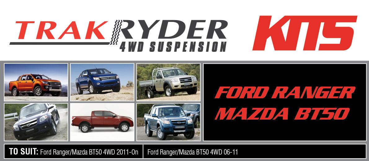 TrakRyder Suspension Kits for Mazda BT50 | Pedders